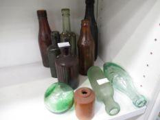 Assorted Bottles/Glassware