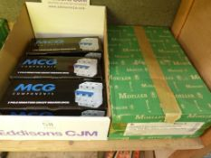 MCG Components Circuit Breakers and a Moeller Insulated Load Consumer Unit