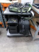 Mobile Computer Desk and 5 assorted Bags