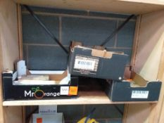 2 x Boxes of inserter tools, tapered drill bits etc