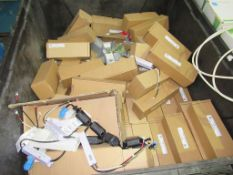 1 x Stillage and 1 x Pallet of Various Electrical Items and Connectors