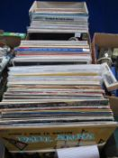 """Two boxes to contain over 140 Vinyl LP's to include; Harry Secombe, Peter Sellars, Spike Milligan """"H"""