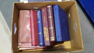 Box of Stamp Albums (empty)