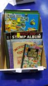 Box of Stamp Albums