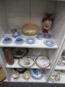 Three Shelves containing Ceramics