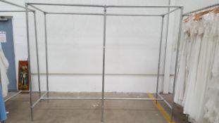 Three aluminium frames