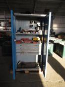 2 Door Metal Filing Cabinet with contents