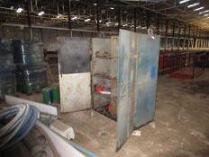 Heavy Duty 2 Door Metal Filing Cabinet with contents