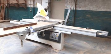 Paoloni P45 tilt arbor panel saw, serial number 20312 (2007)