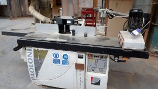 Paoloni T160CL spindle moulder, serial number 21410 (2008) with type 2038 power feed, serial