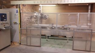Marzani Progetti F1200 CNC router hinge/multipoint lock recessing machine with control panel and GEV