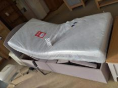 Electric adjustable bed, mattress and headboard