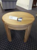 Oak round top coffee table