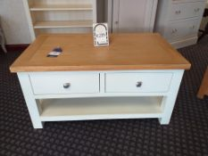 Vienna painted two drawer coffee table