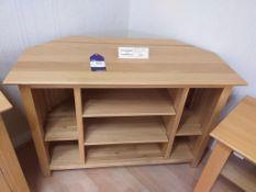 Danum oak corner TV/video unit