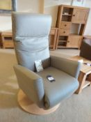 Recor Luxury Leather Gas Pump Recliner