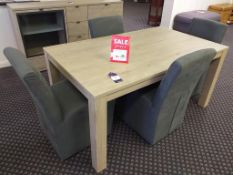 Oslo Table together with Four Chairs