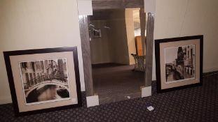 2x Framed print & 1x Framed mirror
