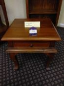 Lamp table with cabriole legs