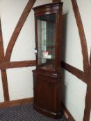 English Cherry Bow Corner Cabinet