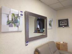 3x Framed prints with mirror