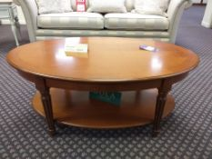 Gola Avoca large oval coffee table w/under tier