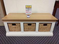 Wordsworth hall bench w/baskets