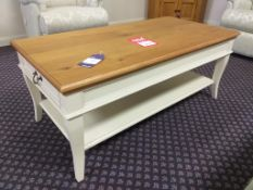Country house oak top coffee table