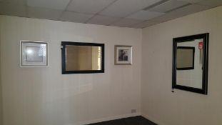 2x Framed print & 2x Framed mirrors