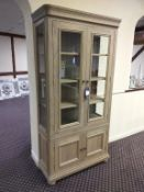 Kensington Oak Glass Display Cabinet
