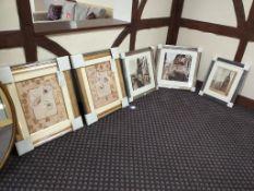 5x Framed prints