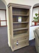 Kensington Oak Two Drawer Bookcase
