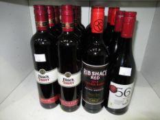 Six bottles of Black Tower Pinot Noir Regent red wine, four bottles of Black Tower smooth red wine,