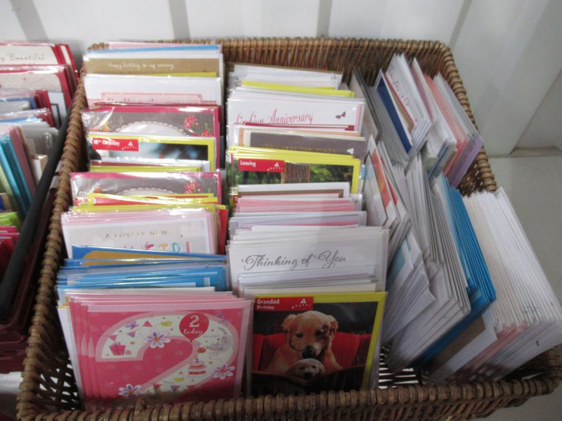 Lot 93 - 2 x trays to include a selection of cards