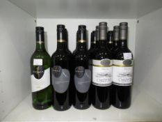 Twelve bottles of Kumala Cabernet Sauvignon Shiraz 2015 red wine , a bottle of Kumala Chardonnay Sem