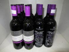 Eight bottles of Oxford Landing Estates Cabernet Sauvignon Shiraz 2012 red wine and six botttles of