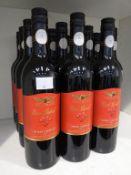 Fifteen bottles of Wolf Blass Red Label Shiraz Cabernet 2015 red wine
