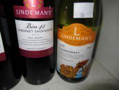 Twenty one bottles of Lindeman's wine: a bottle of Bin 85 2018 Pinot Grigio white wine, four bottle