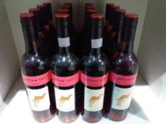Sixteen bottles of Yellow Tail 2012 Rose wine