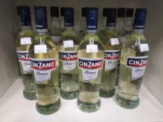 Ten bottles of V-Kat Dry Schnapps and six bottles of Cinzano Bianco Vermouth