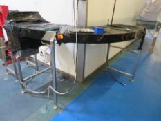 Powered 90° Acrylic Slat Belt Conveyor