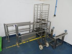 Stainless Steel Bakers Rack, Barriers, Stand & Bottle Trolley