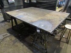 """Heavy Duty Steel Work Table 82""""x64""""x1¼"""""""