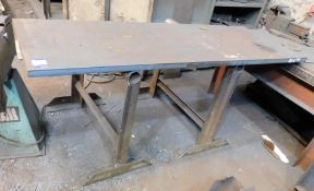 Steel Surface Table & 2 Tressles 2ft 6 x 7ft x 1.5