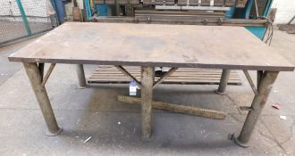 "Steel Surface Table 8ft x 4ft x 2"" Thick"