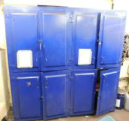 Large Lockable Steel 8 Door Cabinet (8ft(H) x 8ft(