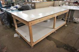 1 Wood Framed Assembly Bench 8ft x 4ft