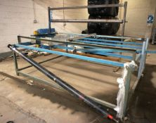 2 Various Steel Fabricated Frames with Rollers
