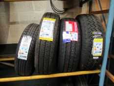 4 Various Tyres to include Triazano 175/80R14, Aus