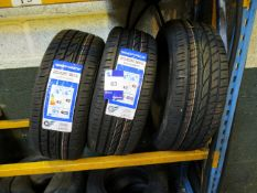 3 x Windforce 205/45x17 Tyres